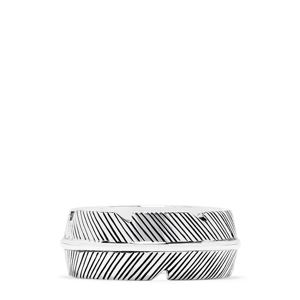 Effy Men's Sterling Silver Feather Ring