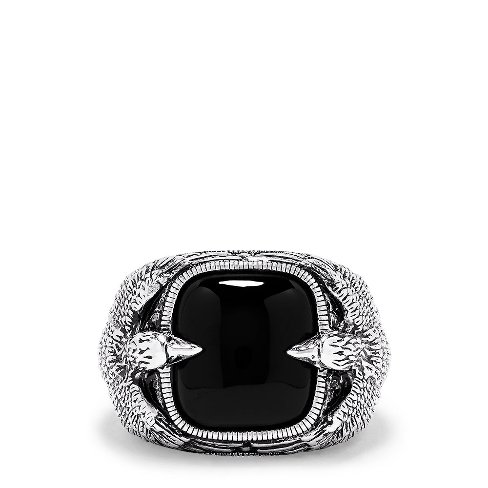 Effy Men's Sterling Silver Onyx Ring, 10.05 TCW