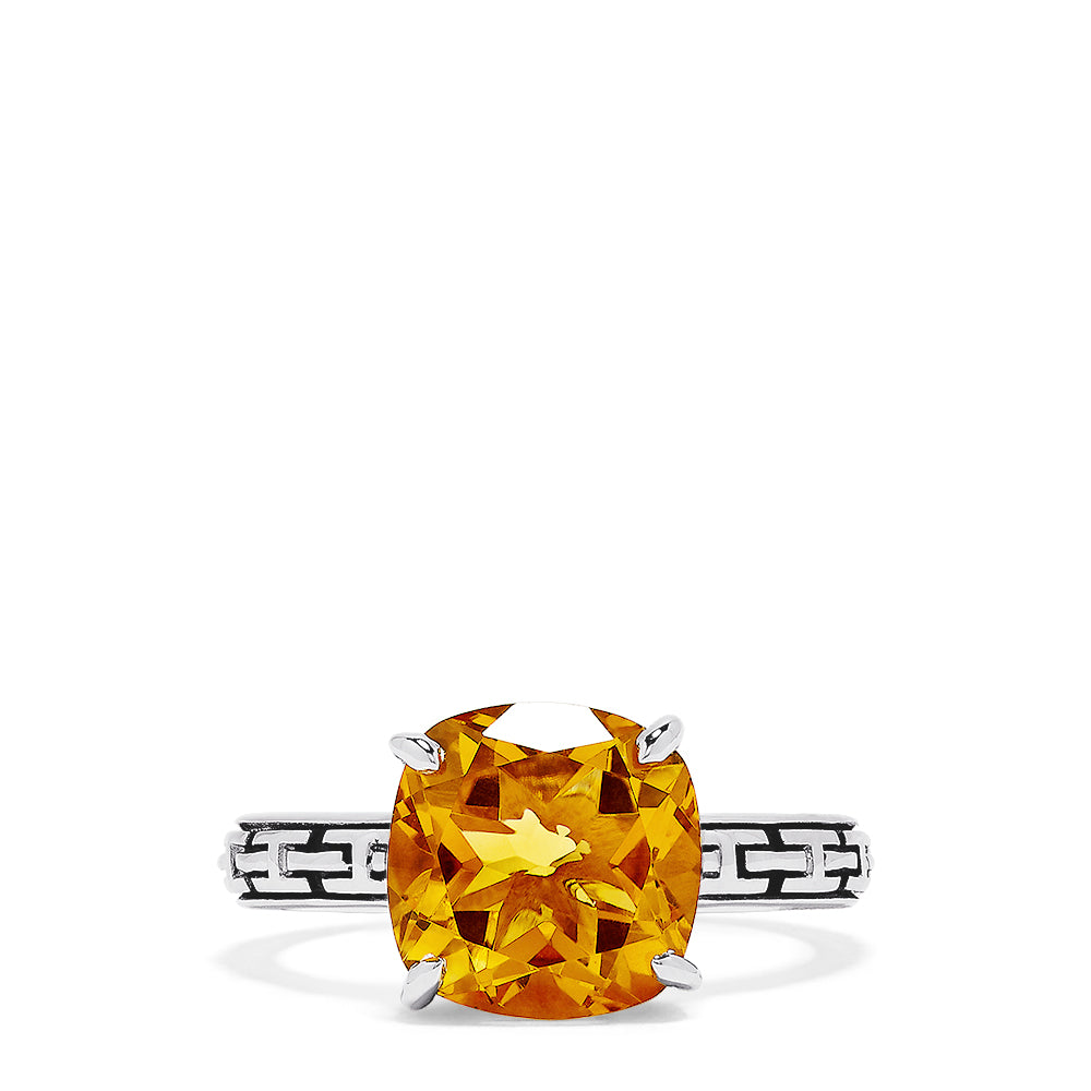 Effy 925 Sterling Silver Citrine Ring, 5.33 TCW