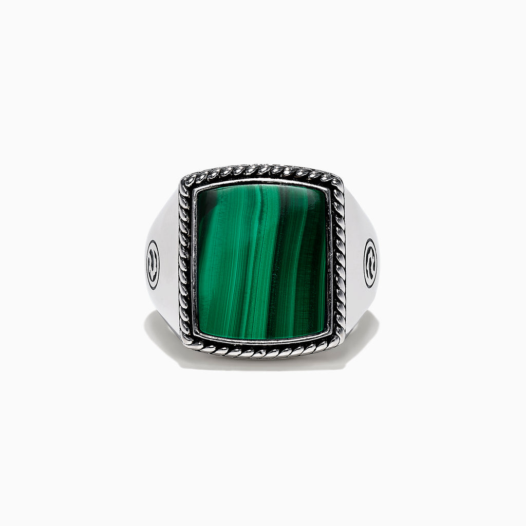 Effy Men's Sterling Silver Malachite Ring, 7.30 TCW