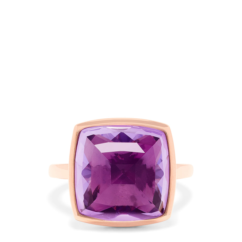 Effy 14K Rose Gold Amethyst Ring, 12.10 TCW