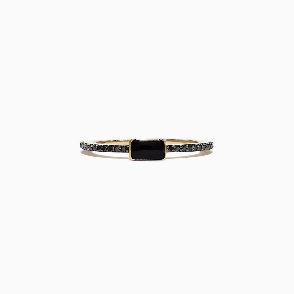 Effy Eclipse 14K Yellow Gold Black Diamond Ring, 0.44 TCW