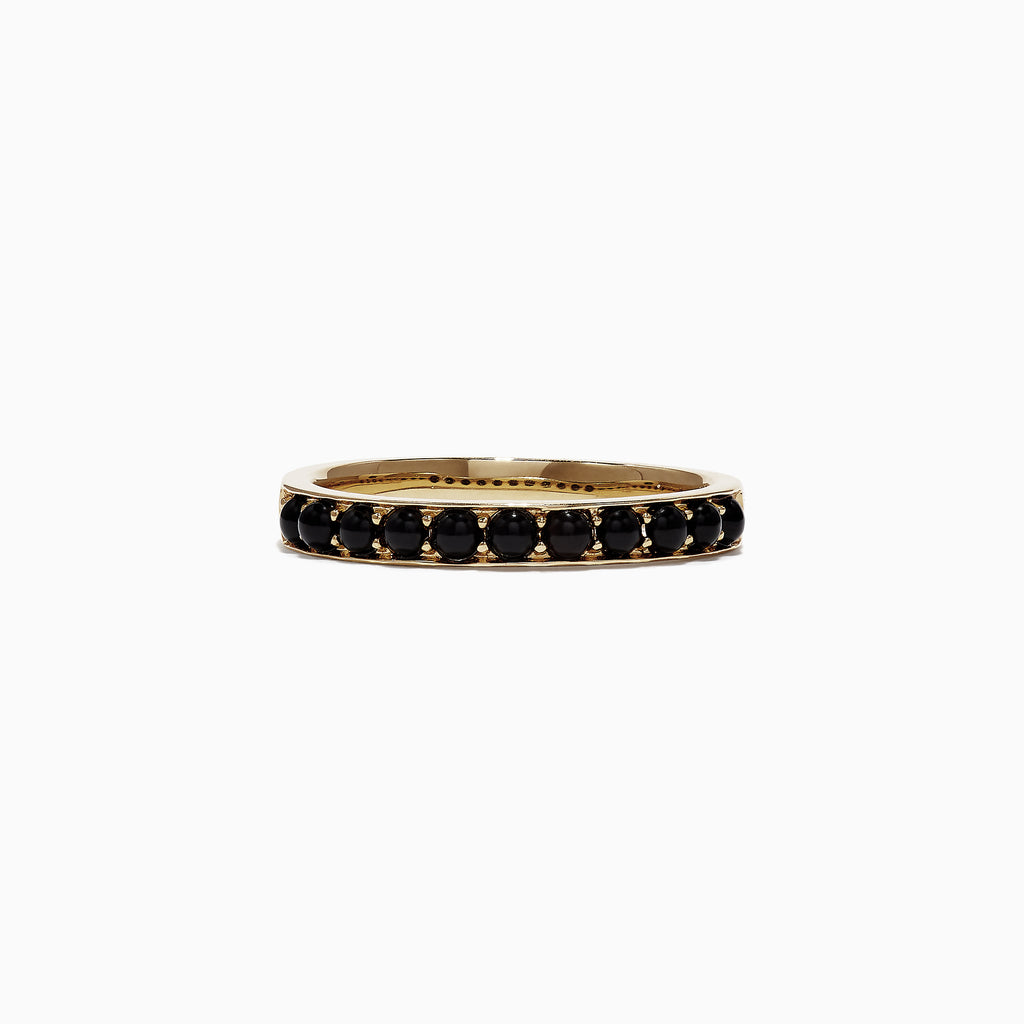 Effy Eclipse 14K Yellow Gold Black Onyx Band Ring, 0.50 TCW