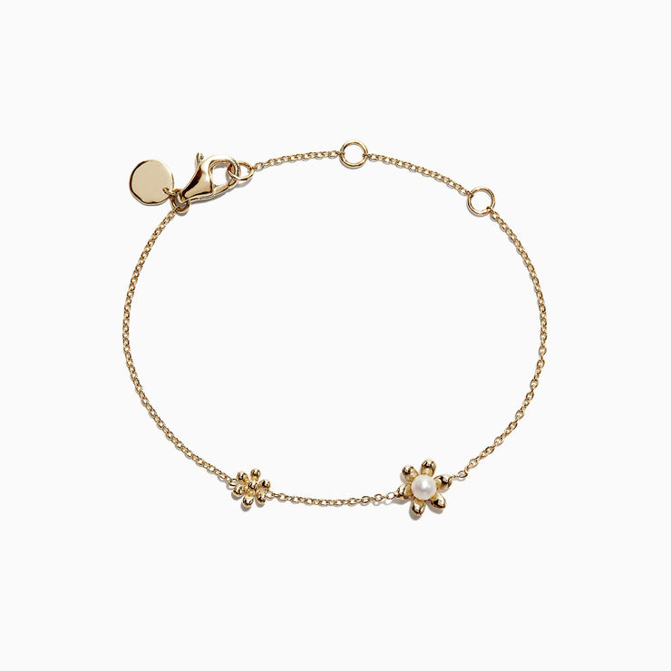 Effy Kidz 14K Yellow Gold Fresh Water Pearl Flower Bracelet
