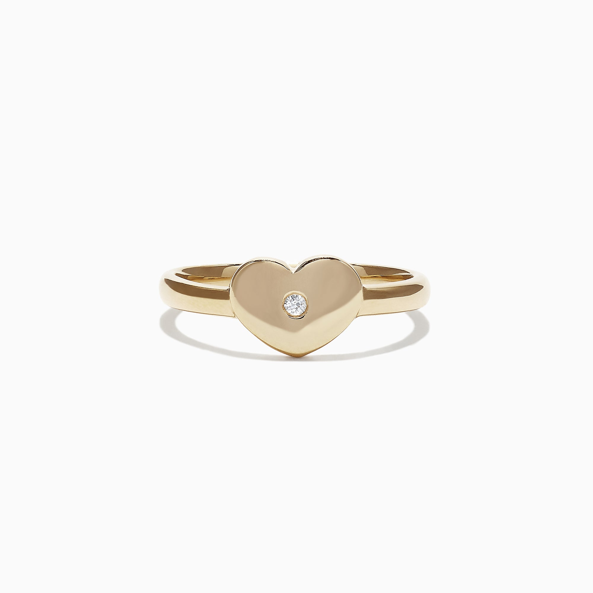 Effy Kidz 14K Yellow Gold Diamond Heart Ring, 0.01 TCW