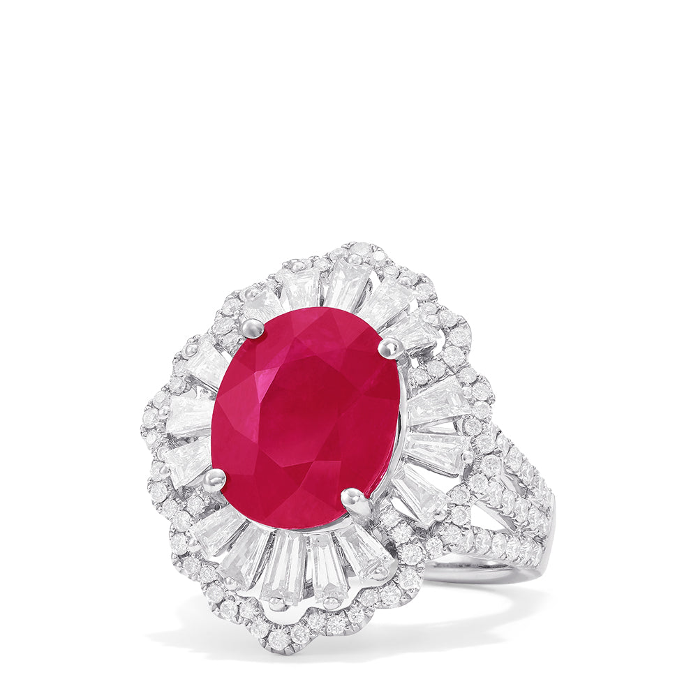 Effy Hematian 18K White Gold Ruby and Diamond Ring, 7.31 TCW
