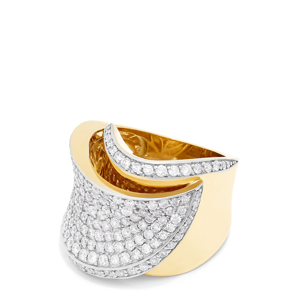 Effy Limited Edition 14K Yellow and White Gold Diamond Ring, 2.25 TCW