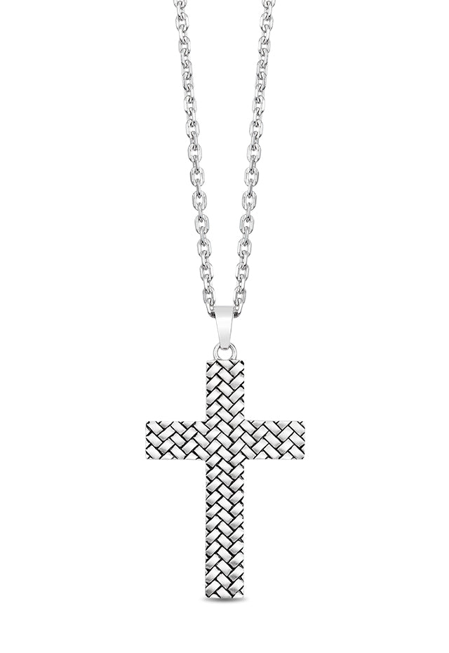 Effy Men's 925 Sterling Silver Cross Pendant