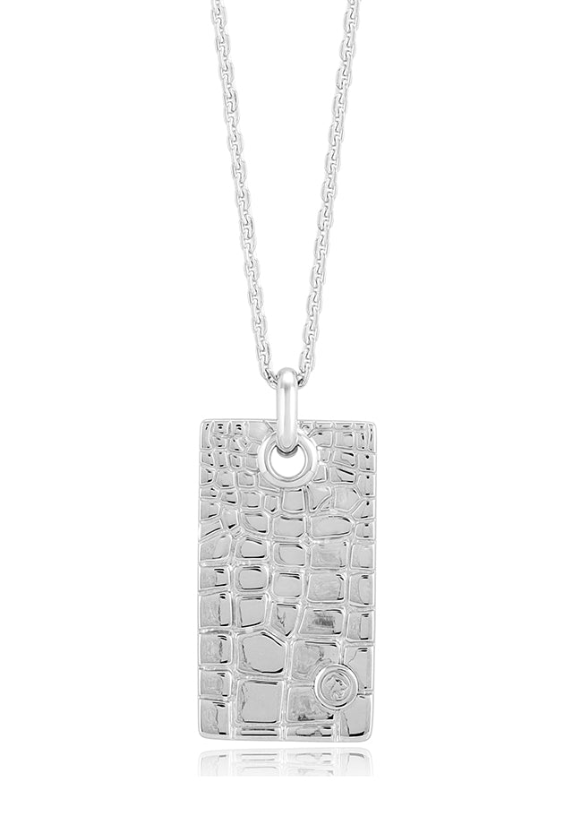 Effy Men's 925 Sterling Silver Dog Tag Pendant