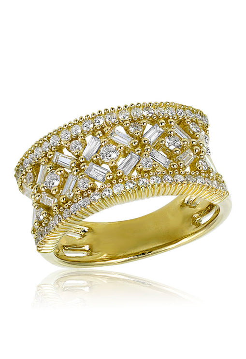 Moderna D'Oro 14K Yellow Gold Diamond Ring, 1.08 TCW