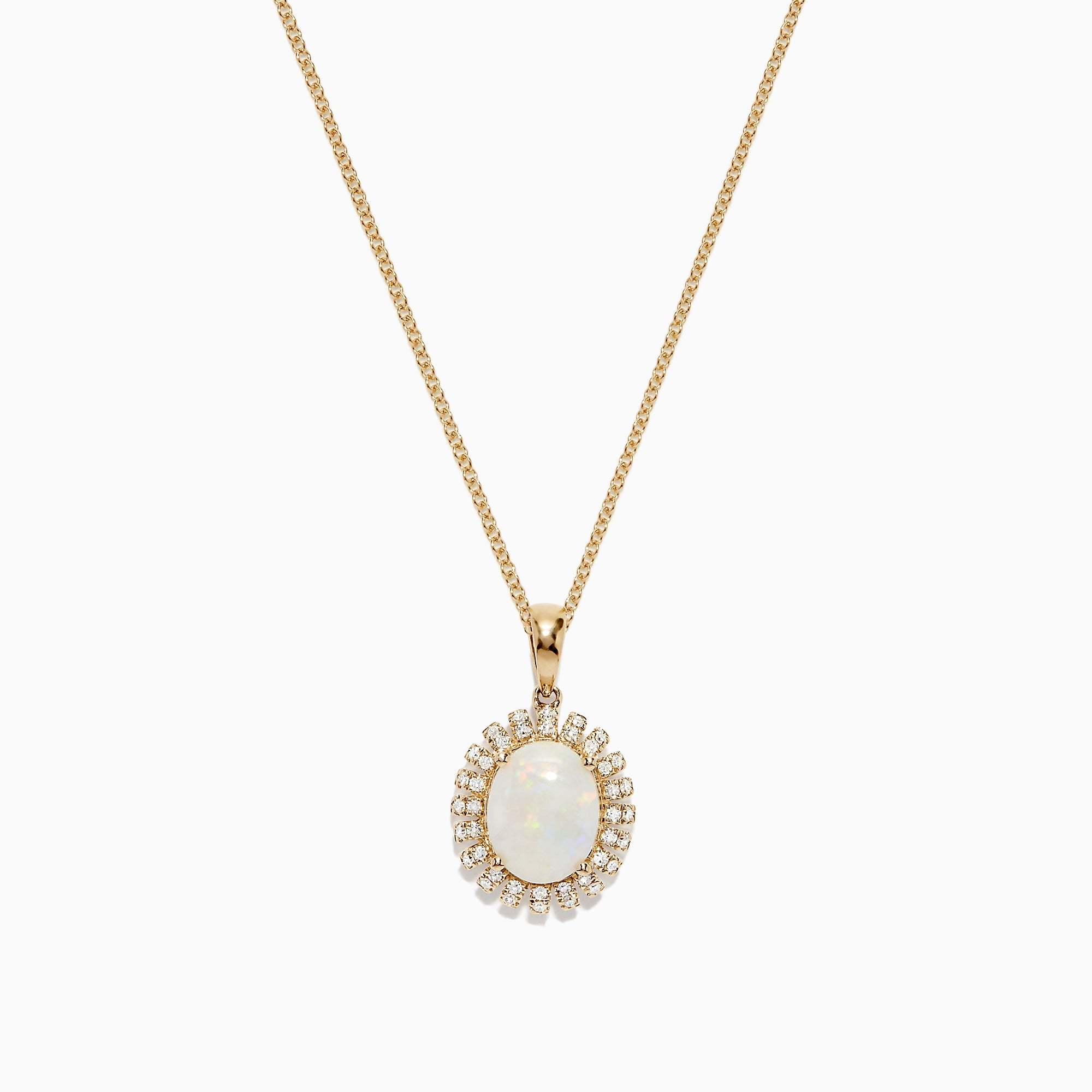 Effy Aurora 14K Yellow Gold Opal and Diamond Pendant, 2.59 TCW