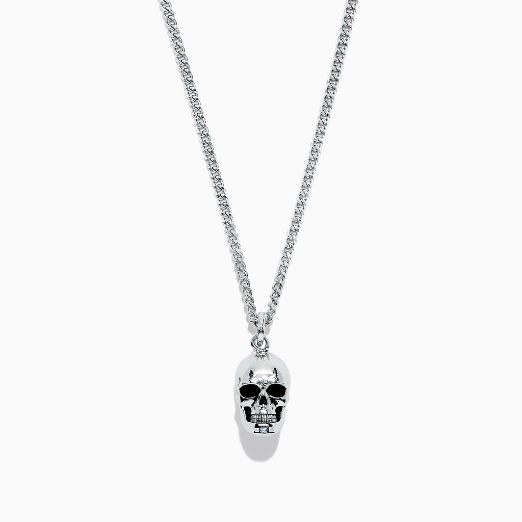 Effy Men's Sterling Silver Mini Skull Necklace