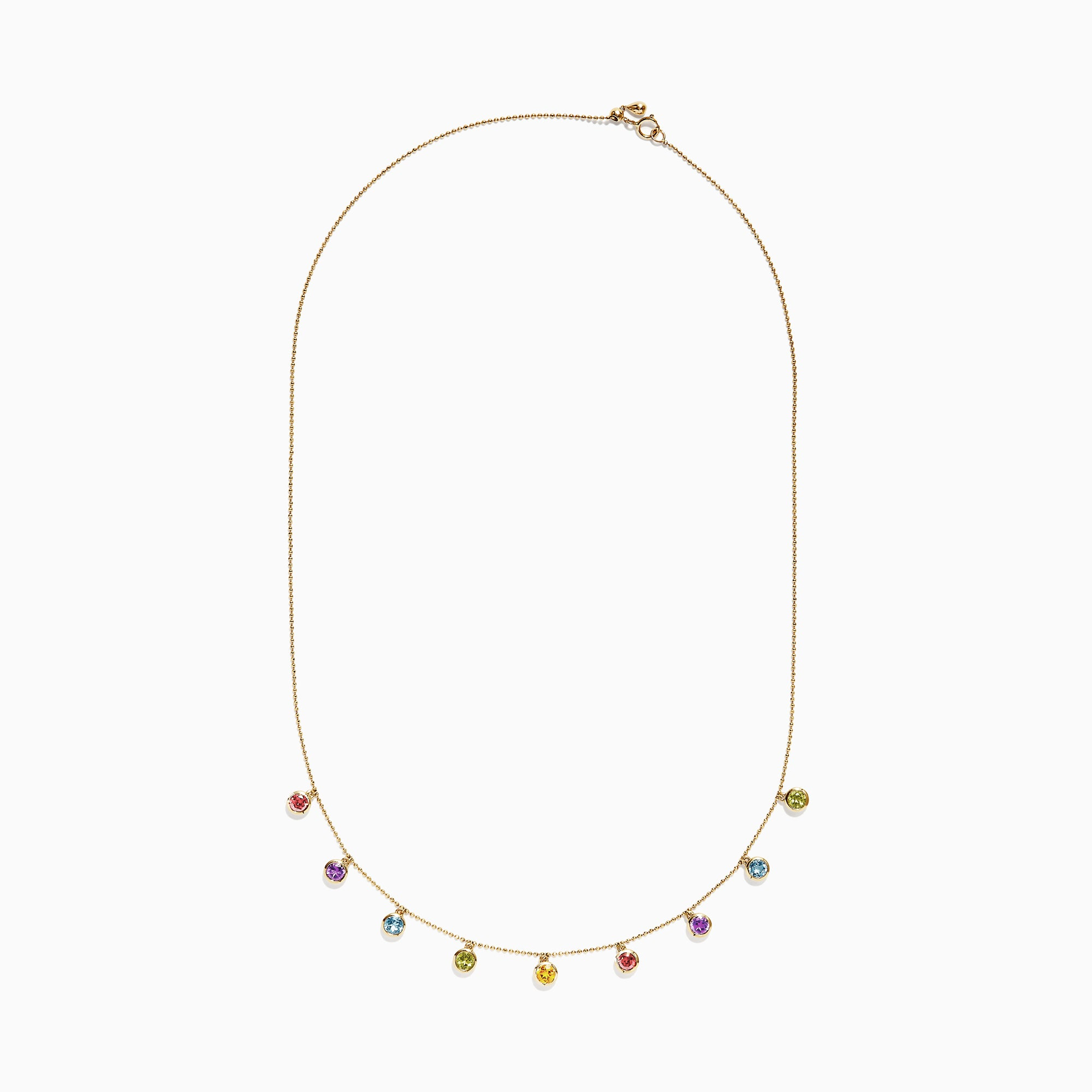 Effy Mosaic 14K Yellow Gold Multi Color Necklace, 2.10 TCW