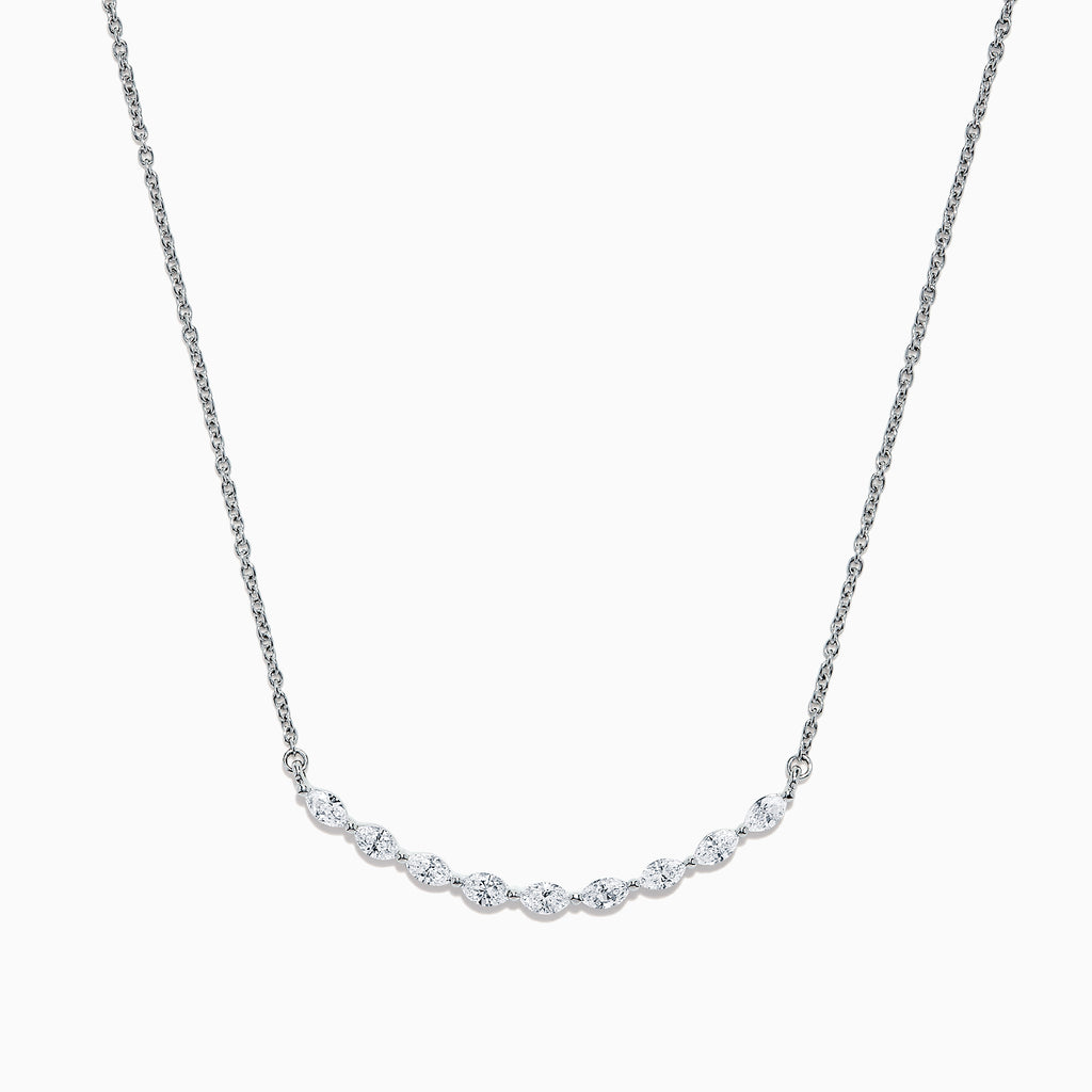 Effy 14K White Gold Diamond Necklace, 0.61 TCW