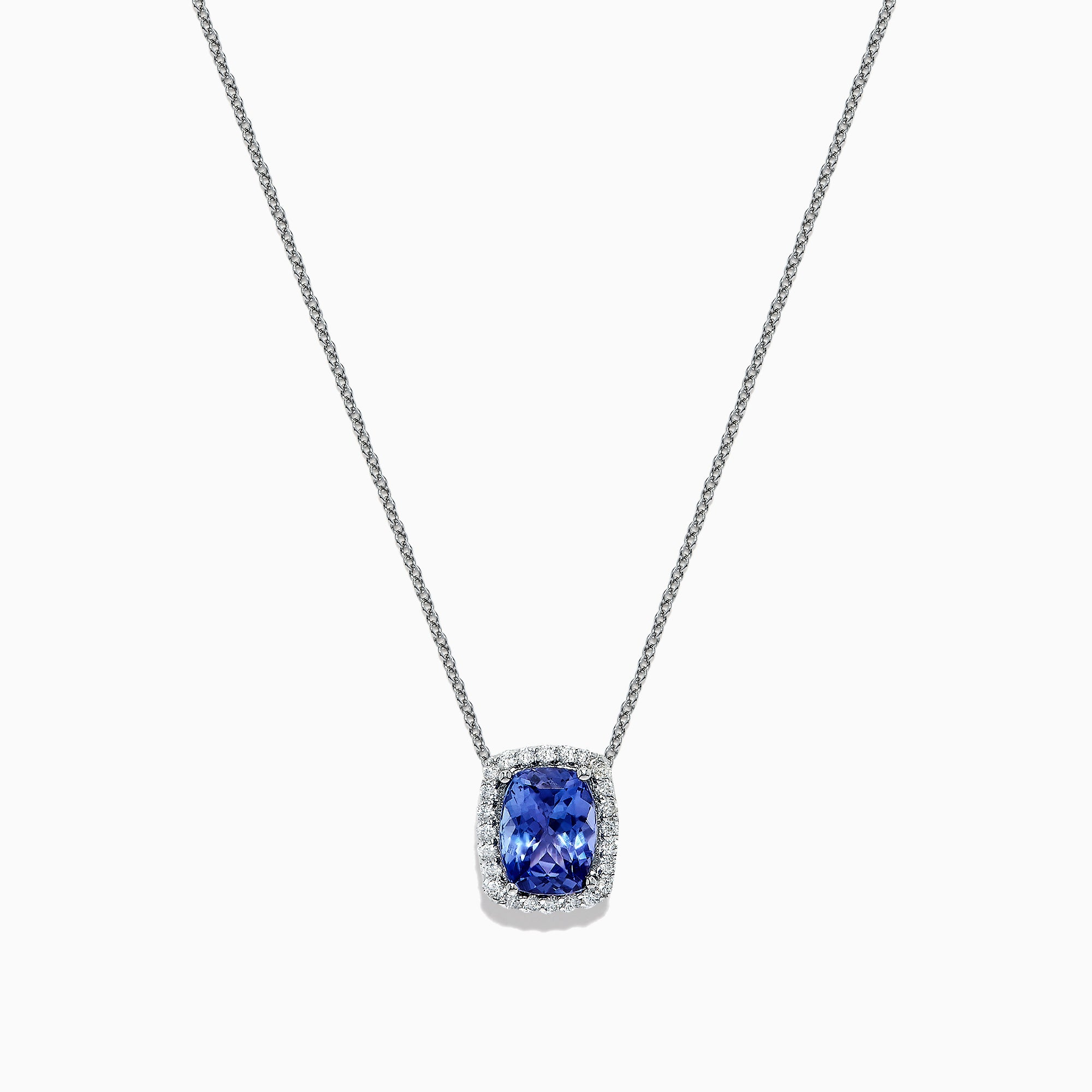 Effy Tanzanite Royale 14K White Gold Tanzanite and Diamond Pendant, 2.11 TCW