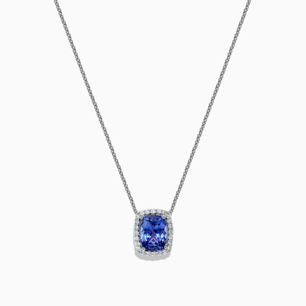 Effy Tanzanite Royale Sterling Silver Tanzanite and Diamond Pendant, 2.11 TCW
