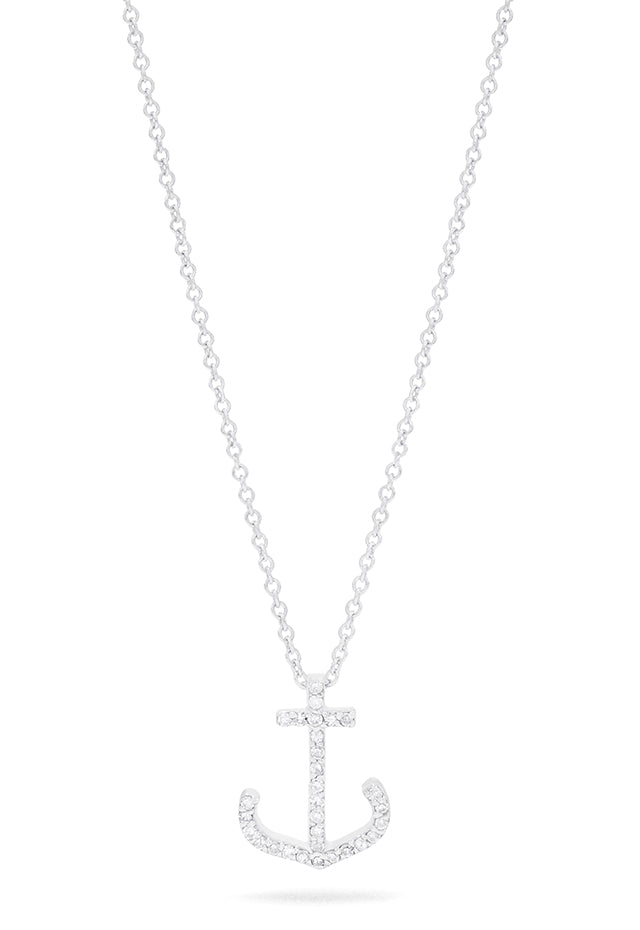 Effy Seaside 14K White Gold Diamond Anchor Pendant, 0.09 TCW