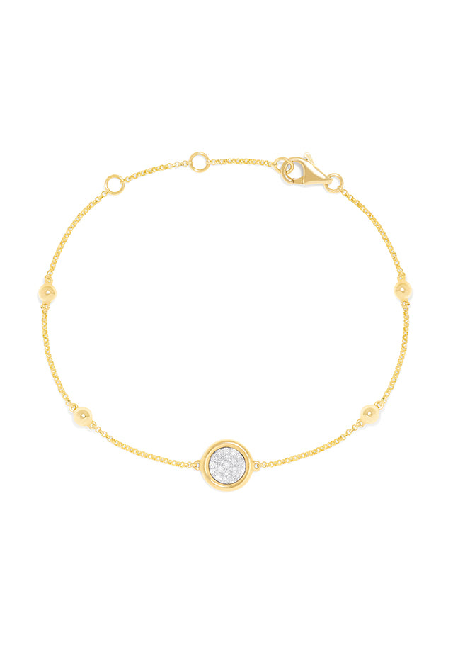 Effy Novelty 14K Yellow Gold Diamond Bracelet, 0.09 TCW