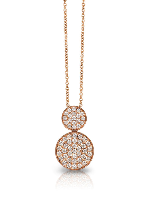 Pave Classica 14K Rose Gold Diamond Pendant, .73 TCW