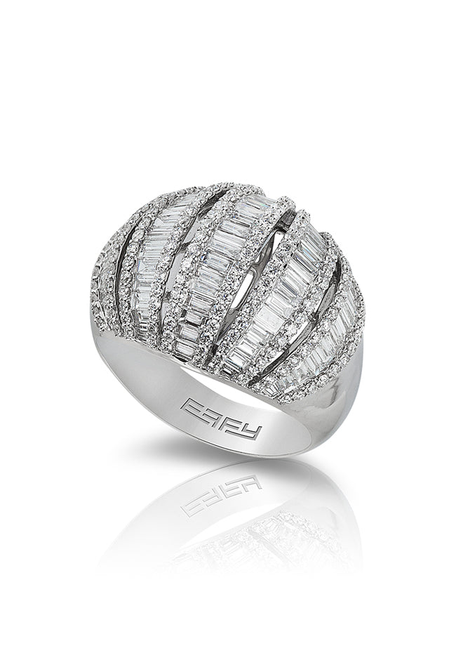 Pave Classica 14K White Gold Diamond Ring, 2.76 TCW