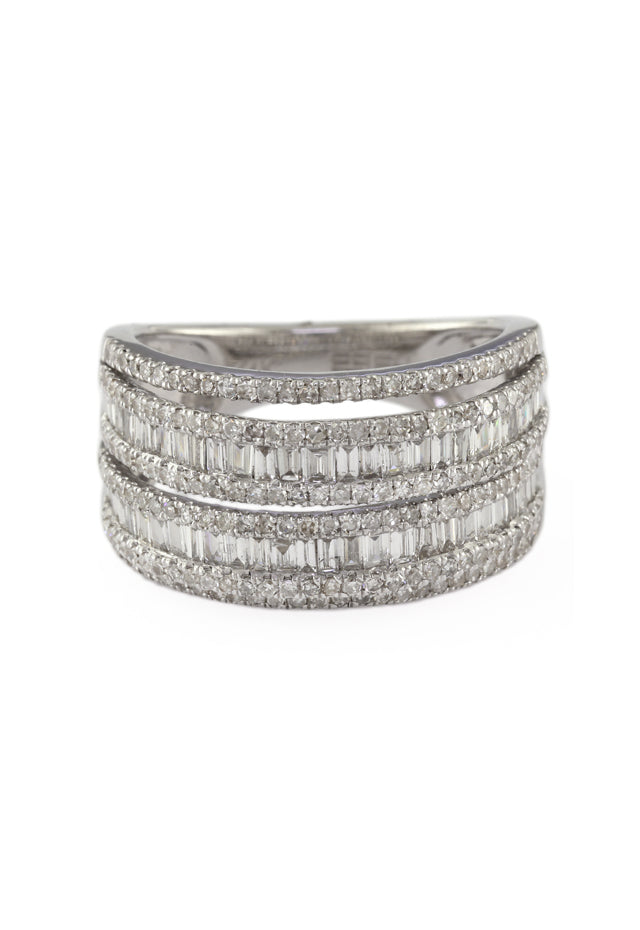 Pave Classica 14K White Gold Diamond Ring, 1.55 TCW