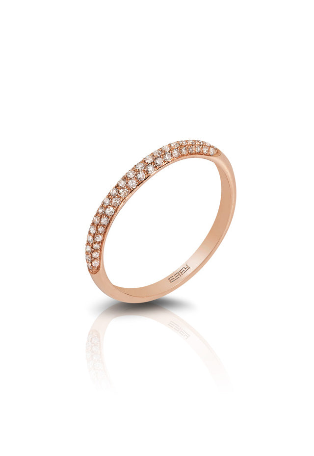 Pave Classica 14K Rose Gold Diamond Ring, .24 TCW