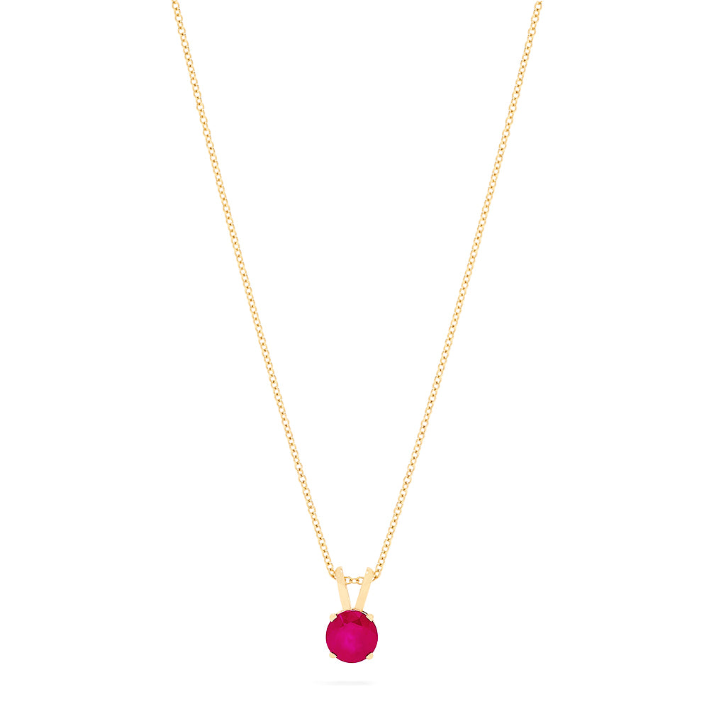 Effy Ruby Royale  14K Yellow Gold Ruby Solitaire Pendant, 0.57 TCW
