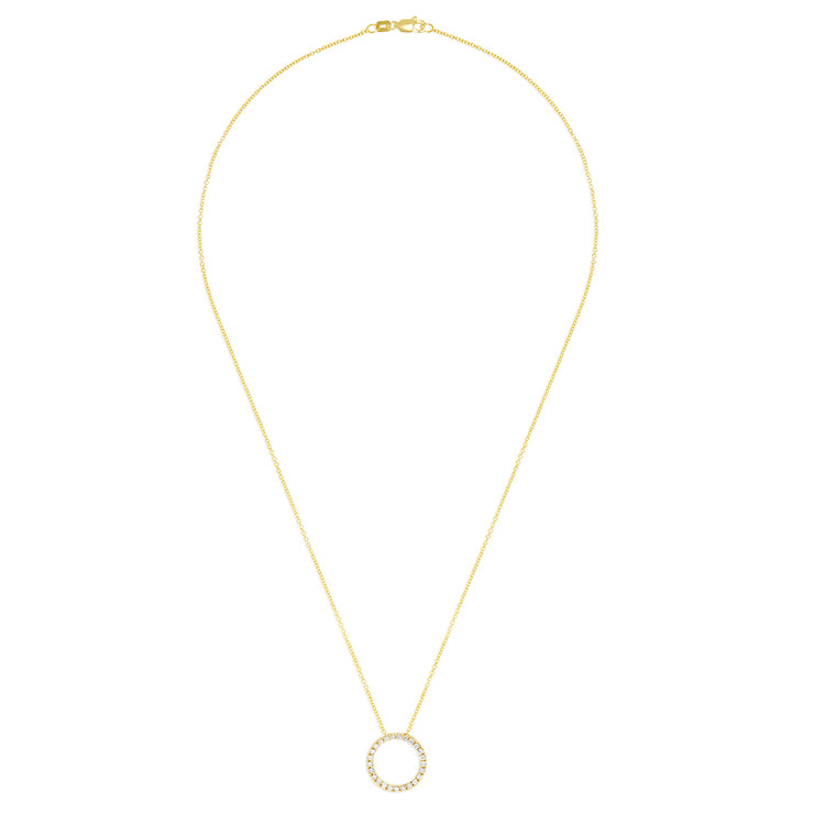 Effy 14K Yellow Gold Diamond Circle Pendant, 0.25 TCW