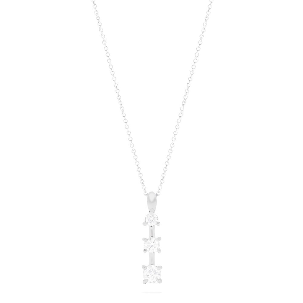 Effy 14K White Gold Graduated Diamond Pendant, 0.49 TCW