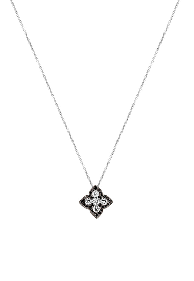 Effy 14K White Gold Black and White Diamond Pendant, 0.63 TCW