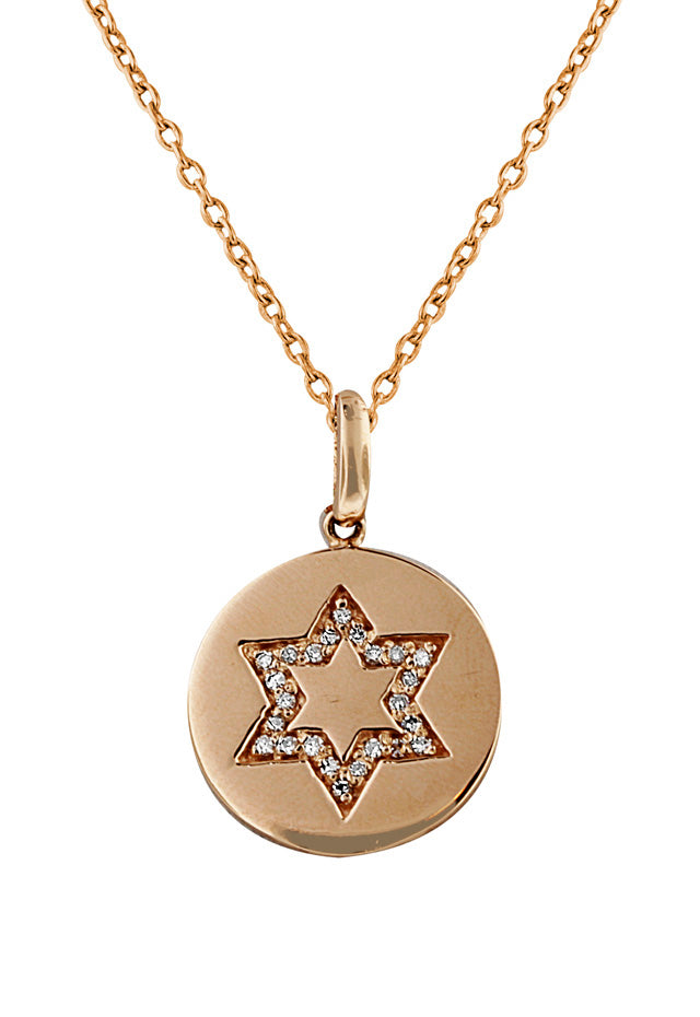 Effy 14K Rose Gold Diamond Star of David Pendant, 0.12 TCW