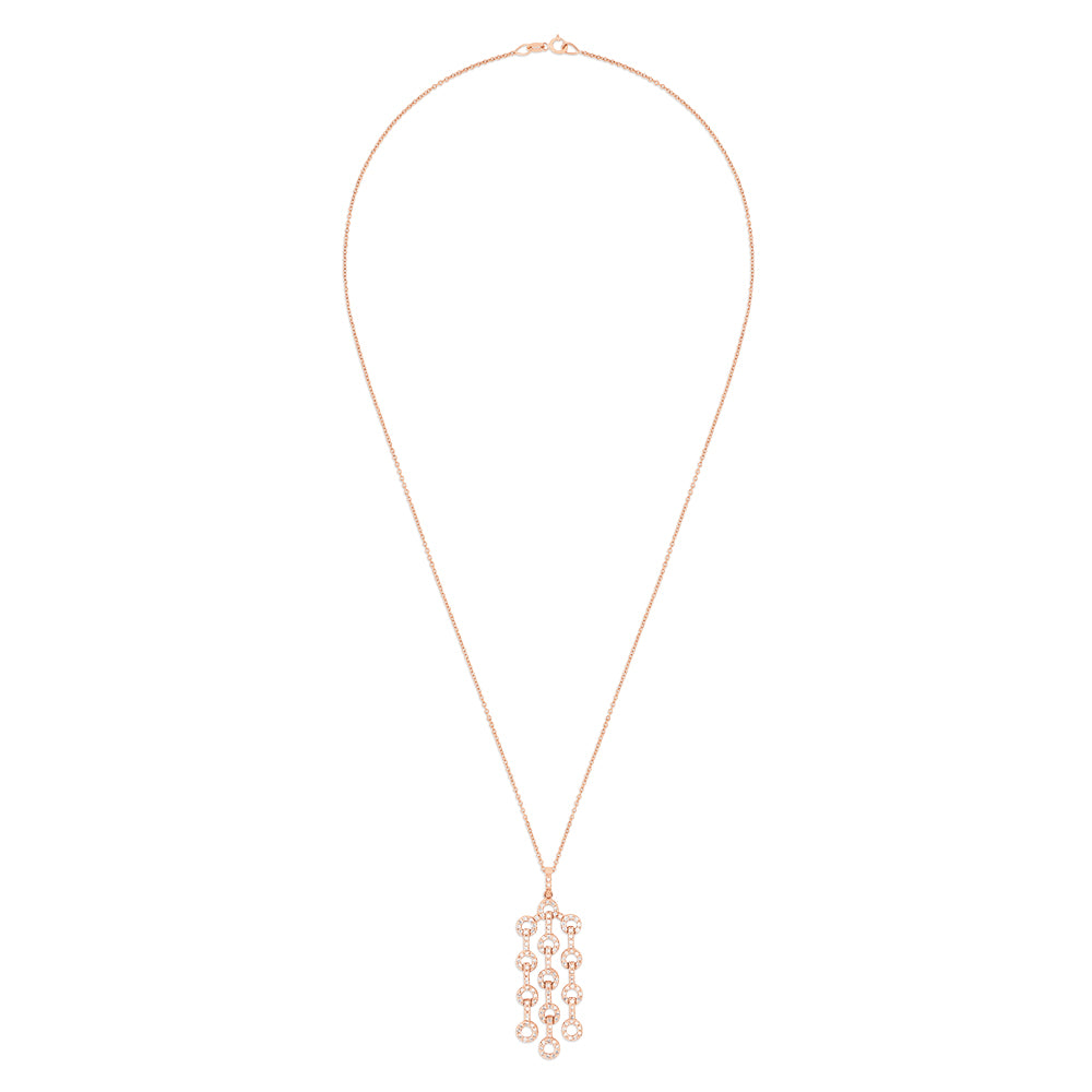 Effy 14K Rose Gold Diamond Links Pendant, 0.70 TCW