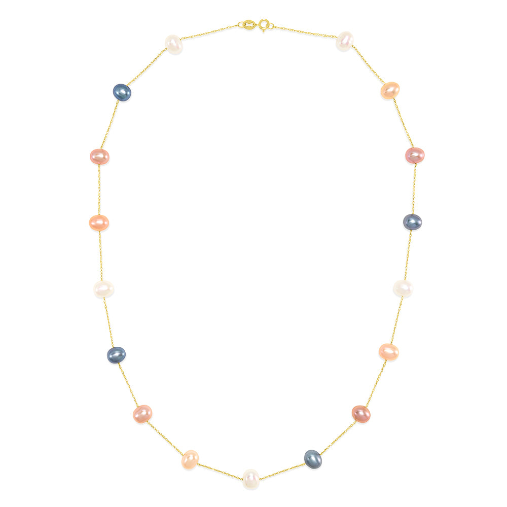 "Effy 14K Yellow Gold Cultured Fresh Water Pearl 16.5"" Necklace"