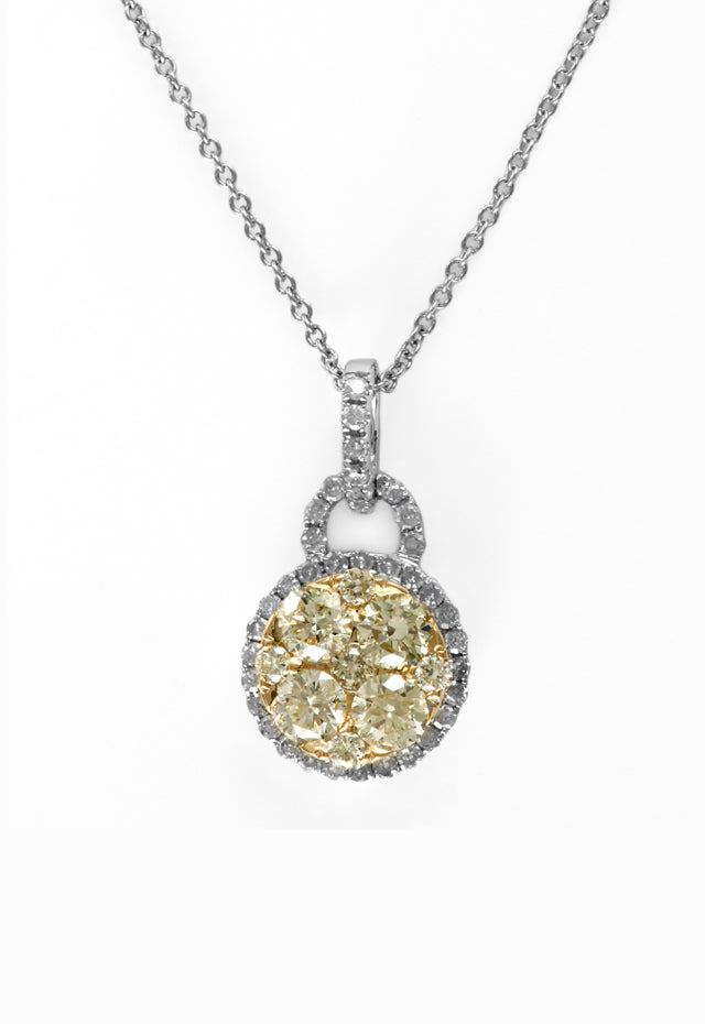 Effy Canare 14K Two-Tone Gold Yellow and White Diamond Pendant, .86 TCW