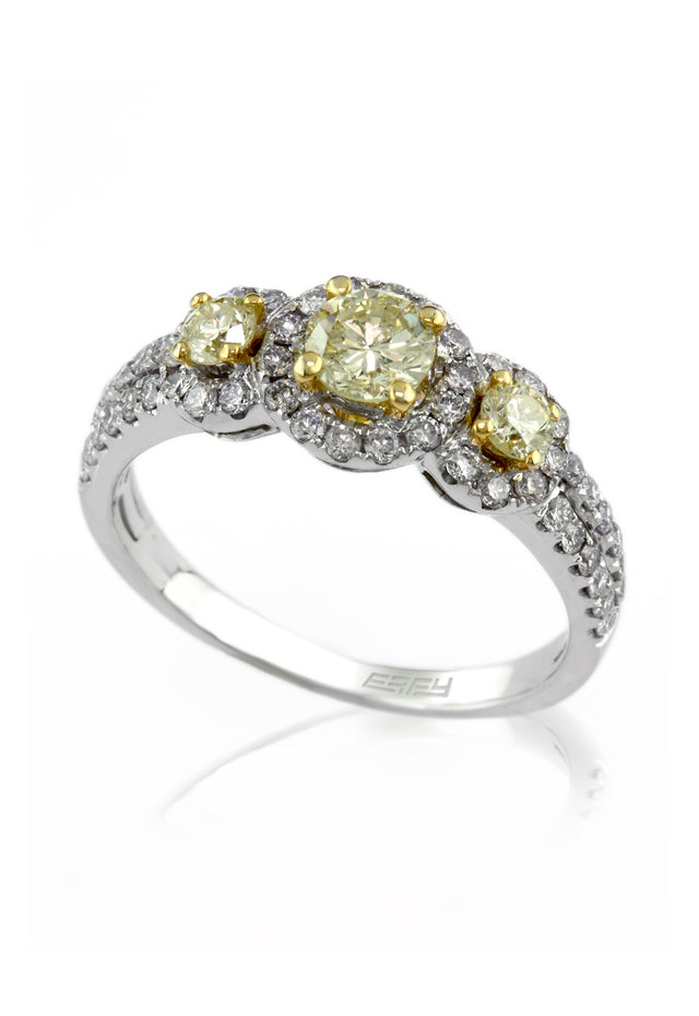 Effy Canare 14K Two-Tone Gold  Yellow and White Diamond Ring, 1.12 TCW