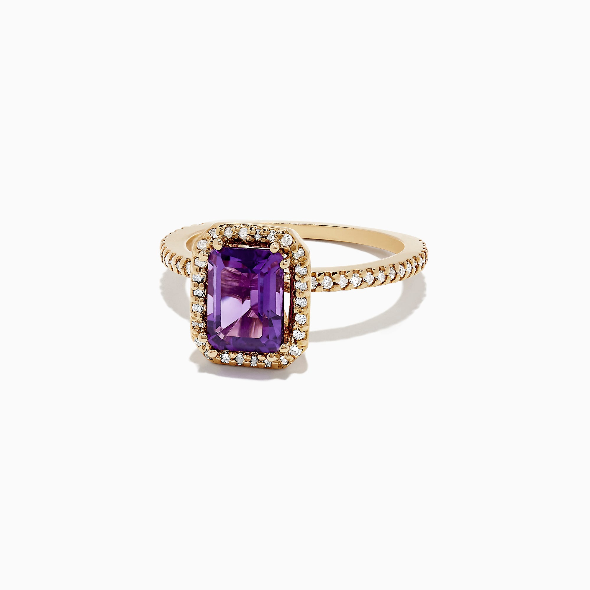 Effy 14K Yellow Gold Amethyst and Diamond Ring, 1.68 TCW