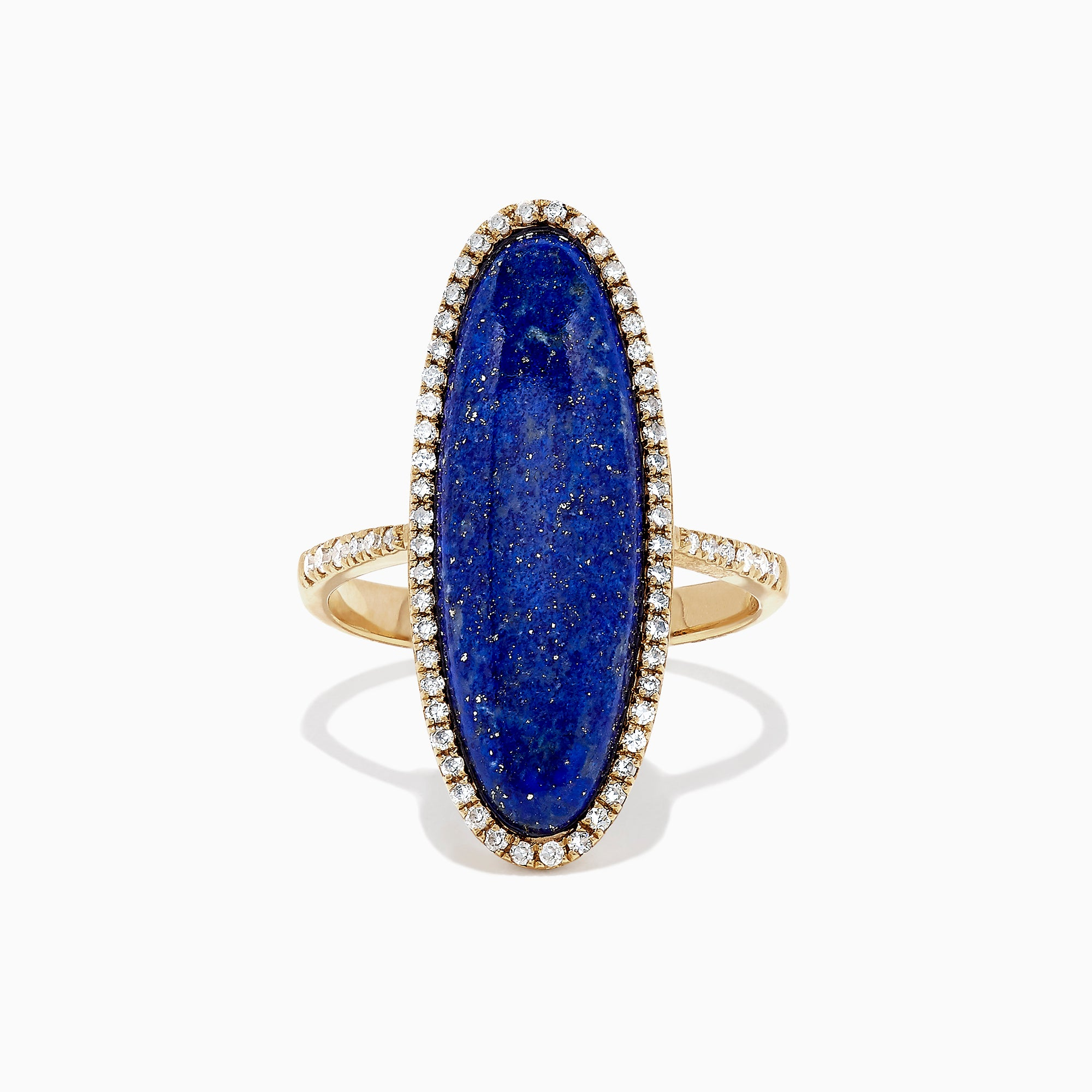 Effy 14K Yellow Gold Lapis Lazuli and Diamond Ring, 6.27 TCW