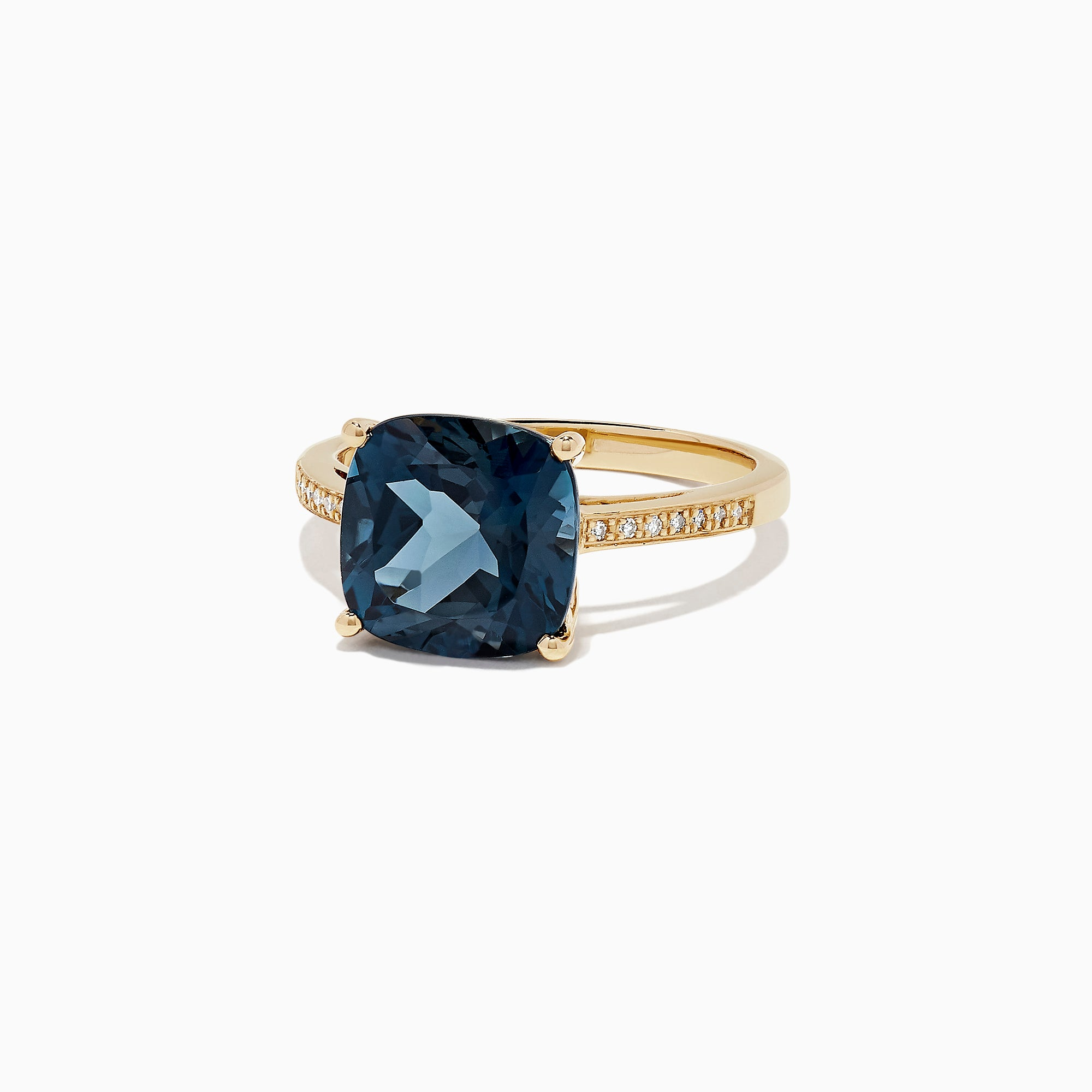 Effy Ocean Bleu 14K Yellow Gold London Blue Topaz & Diamond Ring, 4.54 TCW