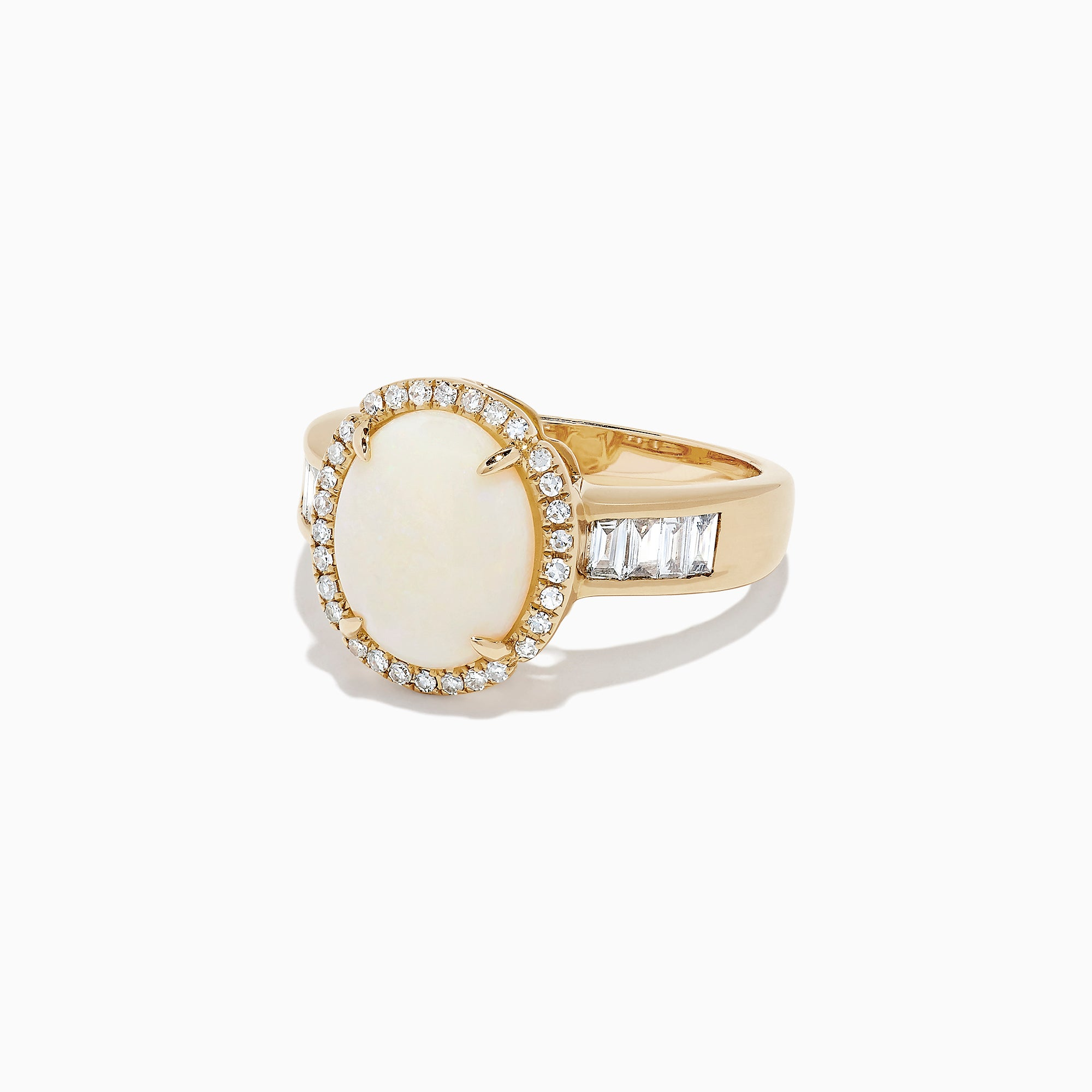 Effy Aurora 14K Yellow Gold Opal and Diamond Ring, 2.64 TCW