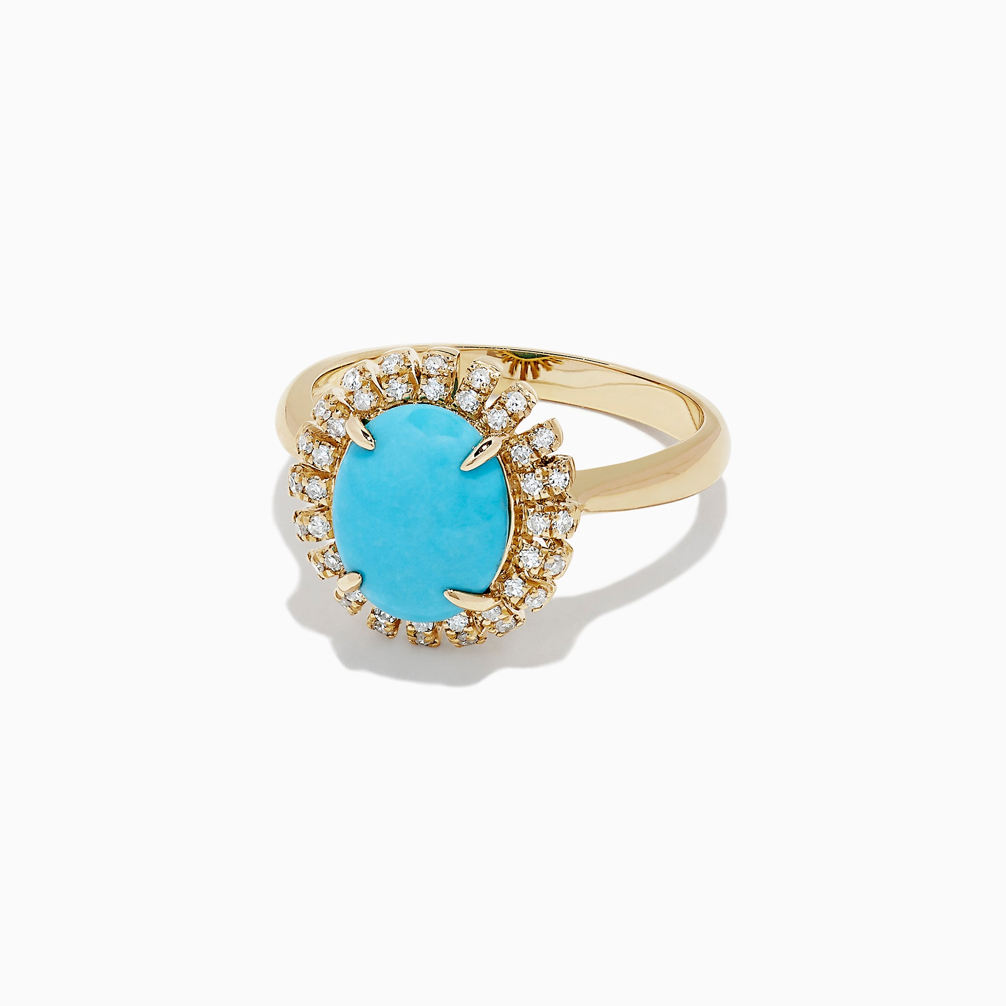 Effy 14K Yellow Gold Turquoise and Diamond Ring, 2.03 TCW