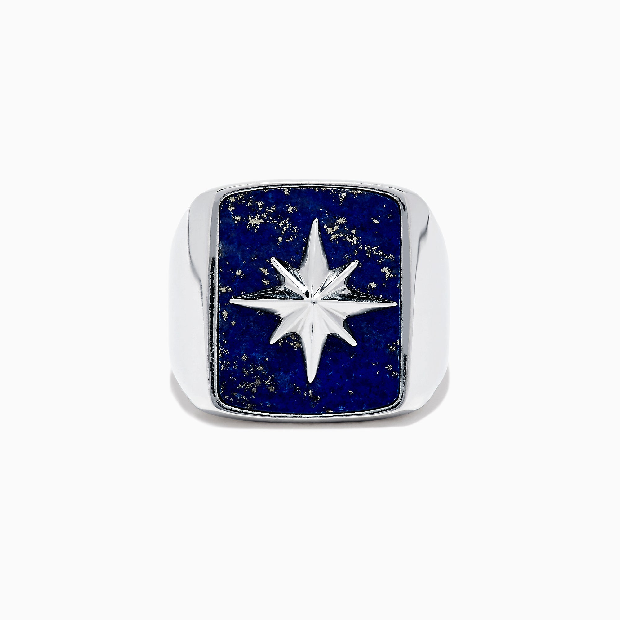 Effy Men's Sterling Silver Lapis Lazuli Star Ring, 9.00 TCW