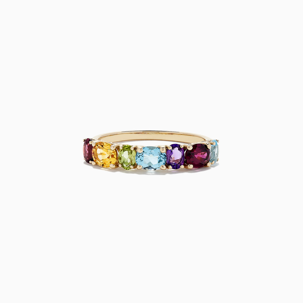 Effy Mosaic 14K Yellow Gold Multi Gemstone Ring, 1.90 TCW