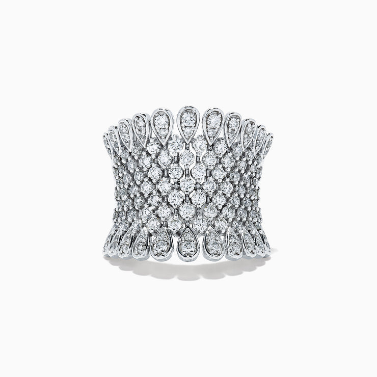 Effy Pave Classica 14K White Gold Diamond Ring, 1.75 TCW