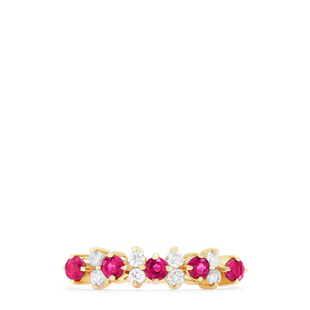 Effy Gemma 14K Yellow Gold Ruby and Diamond Ring, 0.76 TCW