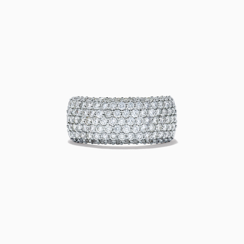 Effy Pave Classica 14K White Gold Diamond Wide Band Ring, 2.10 TCW