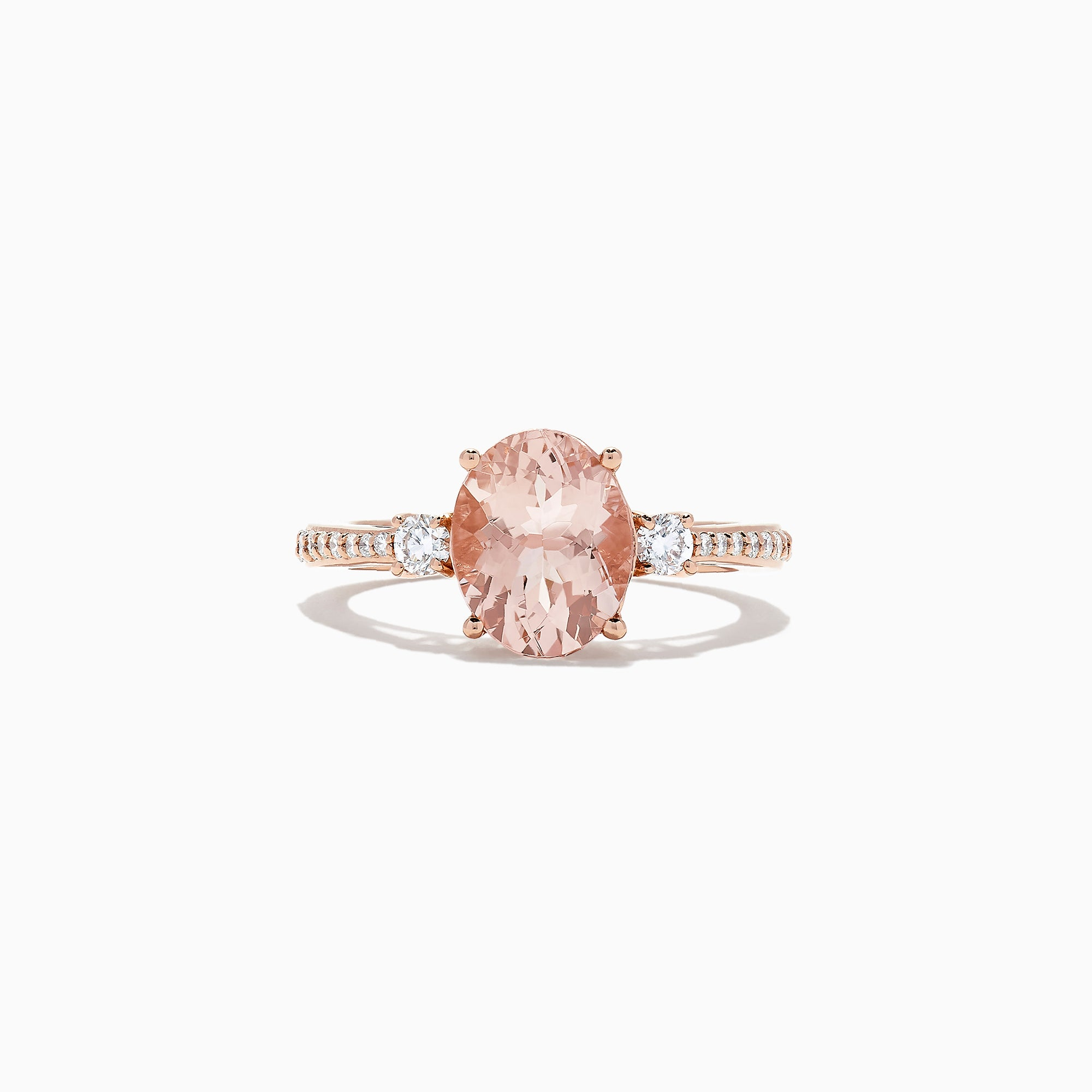 Effy Blush 14K Rose Gold Morganite and Diamond Ring, 2.64 TCW