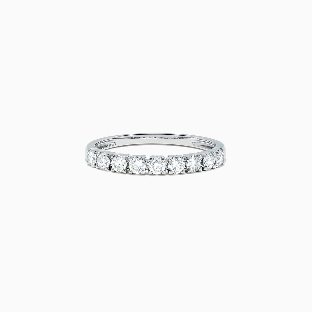 Effy Pave Classica 14K White Gold Diamond Band, 0.48 TCW