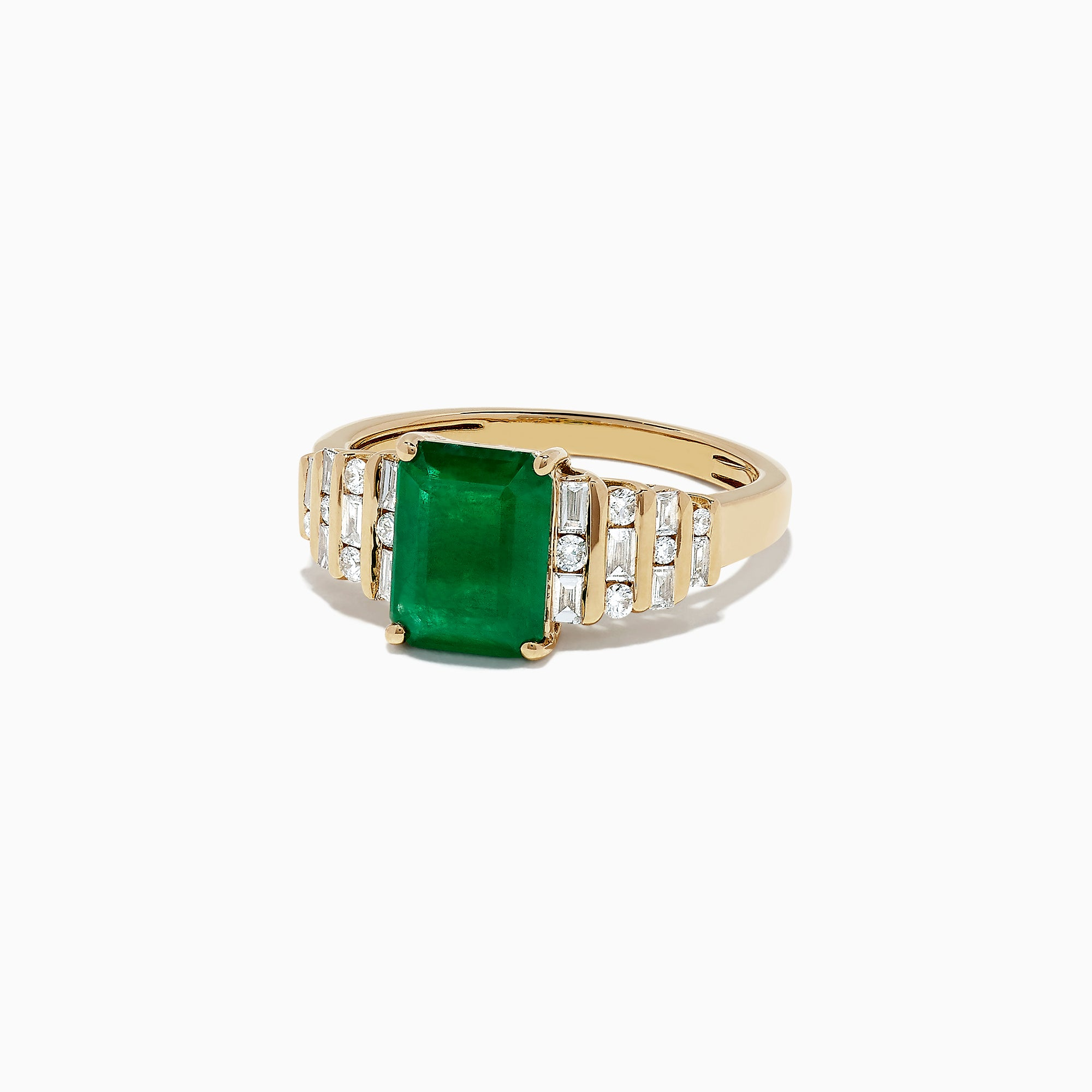 Effy Brasilica 14K  Yellow Gold Emerald and Diamond Ring, 2.53 TCW