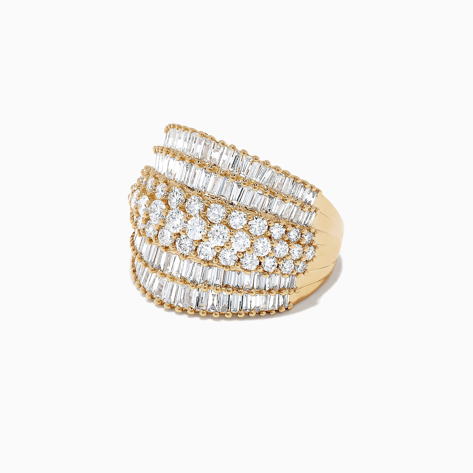 Effy D'Oro 14K Yellow Gold Diamond Ring, 2.85 TCW