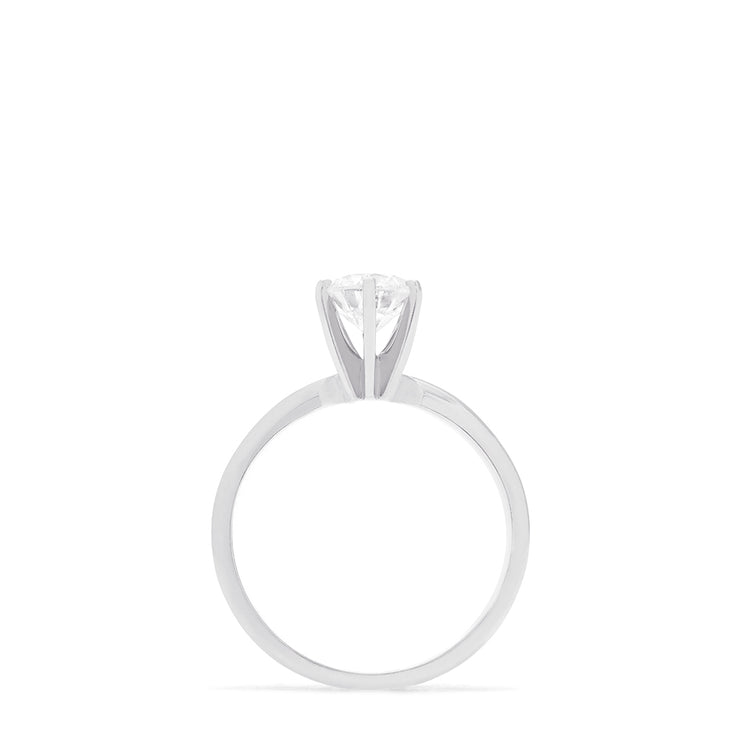 Effy Pave Classica 14K White Gold Diamond Engagement Ring, 0.98 TCW